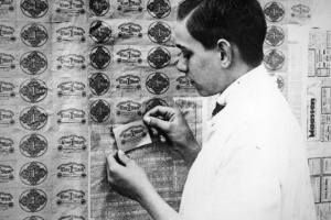 In 1920's Germany, paper money was worth less than the wallpaper.