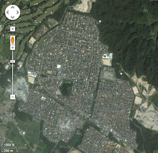 A suburb/town in Japan.