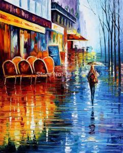 -font-b-CAFE-b-font-IN-font-b-PARIS-b-font-Landscape-font-b-Painting